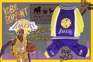 Lakers Jacket Pet Onesie