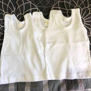 New Baby sleeveless shirts sando for newborn - set of 3