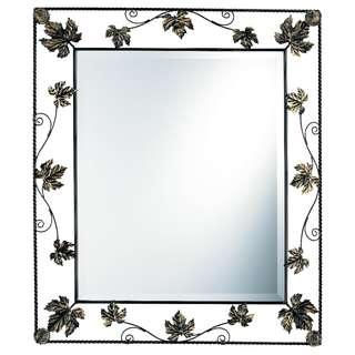 楓葉鐵藝術框鏡子 玄關鏡