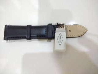 fossil leather strap black size 22 mm