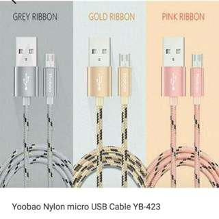Out Of Stock! 💋AUTHENTIC💋YOOBAO MICRO USB CABLE