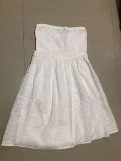 Old Navy Laced white tube dress
