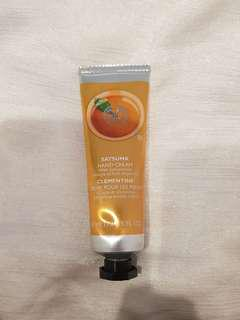 Hand cream - the body shop