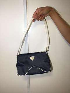 Small Navy & White Guess Purse