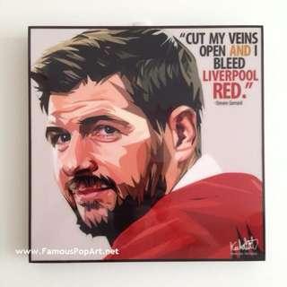 🚚 LIVERPOOL Steven Gerrard PopArt! Portrait Pop Art