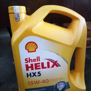 Oli shell hx 5 15/40 galon asli
