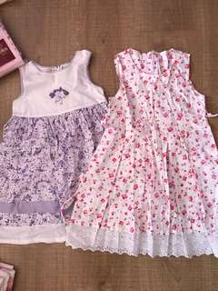 3t girl dress floral (2pcs)