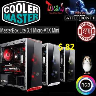 CoolerMaster LITE 3.1 RGB m-ATX WITH T.G MASTERBOX.