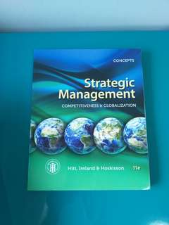 Concepts of Strategic Management, Competitiveness & Globalization (11e)
