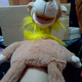 Monkey Puppet with voice recorder