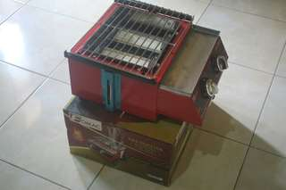 kompor pemanggang sosis, bakso bakar/ roaster 2 tungku