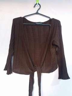MINGLE knitted brown bolero