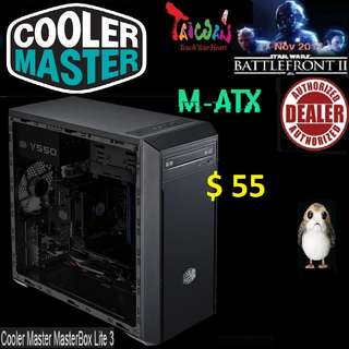 CoolerMaster LITE 3 m-ATX CASE WINDOW MASTERBOX.