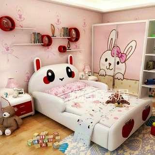 3d cartoon bed for kids