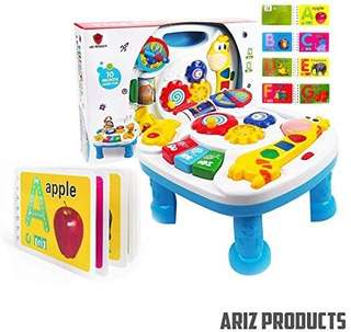 (31) MUSICAL LEARNING TABLE For Babies - FREE Alphabet Book, Finest Musical Learning Table With Songs-Greetings-Colours & Animal Sound Recognition. BEST Entertaining Desk Develops Motor Skills & Encourage Exploration In Children. Limited Offer BUY NOW