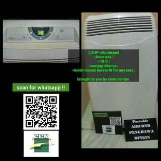 1.5 HP Aircond air cond portable mudah alih