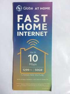 Globe internet with Landline