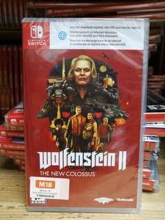 (Brand New) Nintendo Switch Wolfenstein II The New Colossus