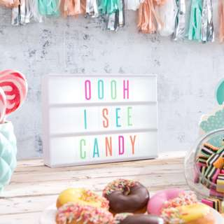 Typo A4 Light Box by Cotton On, with Pastel/Candy Colour Letters