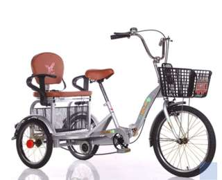 Adult tricycle with removable backseat