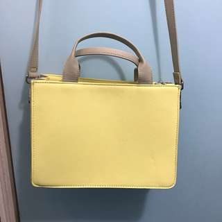 ZARA Yellow Handbag 👜 Faux Leather