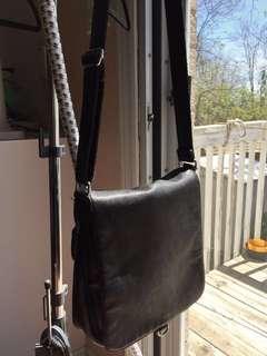 Authentic Leather Black Purse Bag