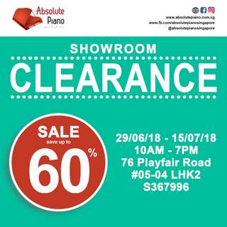 Showroom clearance sales