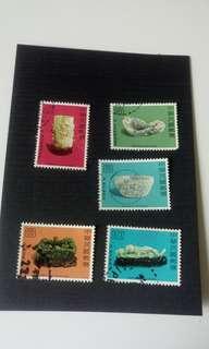 中國郵票: 唐宋清古玩集 一套齊