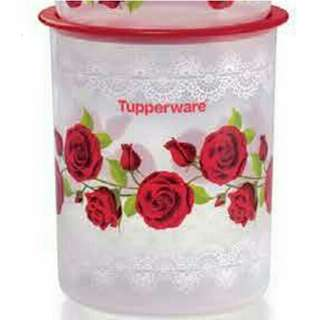 Tupperware Royal Rose One Touch Canister Small (1) 2.0L