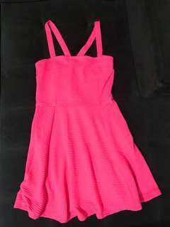 H&M Hot Pink Skater Dress