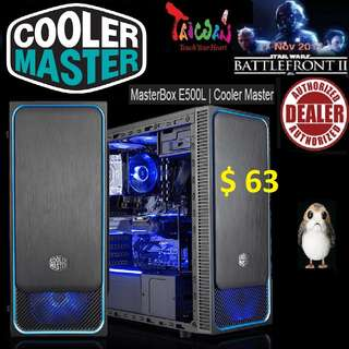 CoolerMaster E500L ATX CASE WINDOW MASTERBOX.