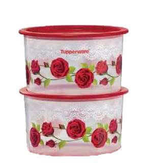 Tupperware Royal Rose One Touch Topper Small (2) 950ml