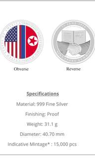 USA-DPRK Summit Medallion