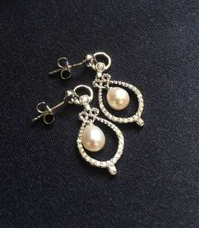 925 earring with pearl