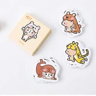Cute Animal Teddy Bear Sticker Set Stationery Arts & Crafts
