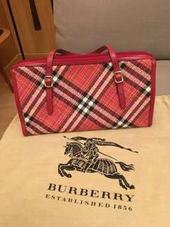 Burberry London Blue label Canvas bag