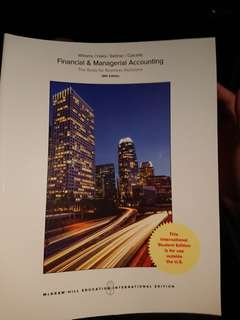 Financial & Managerial Accounting (18th edition)
