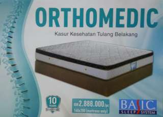 Spring Bed / Kasur / Mattress BASIC Orthomedic 160x200cm