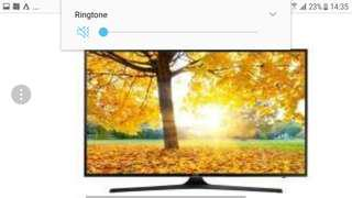"""65"""" Samsung TV with blurred faulty screen"""