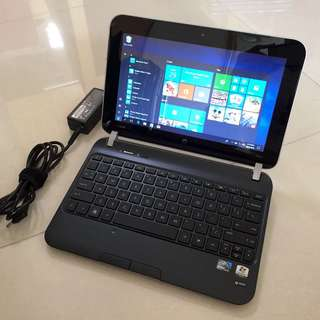 "English Windows10 HP 10.1"" N2800 2gb ram 320G HDD Netbook Microsoft office Words Excel power point... (Video Chat, Facebook Messenger, Skype...) 4-5 hour Battery with Charger 要中文版可預先通知轉回中文版才交收"