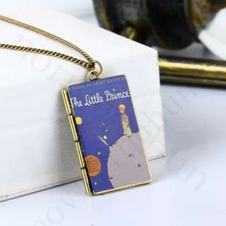 The Little Prince Book Pendant Necklace