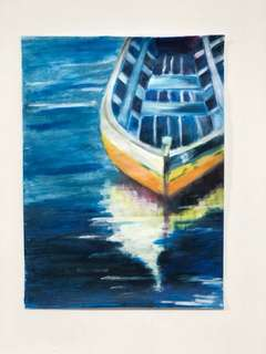 Self painted Boat Painting