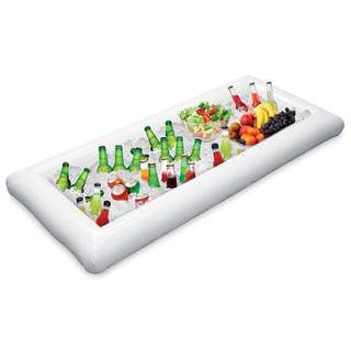Inflatable ice or salad tray