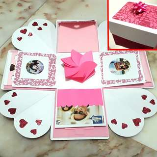 🚚 Explosion box card pink
