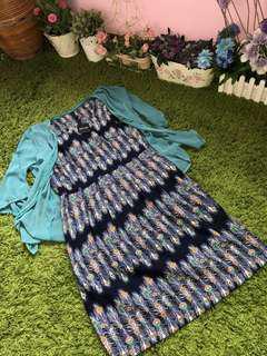 BNWT PEACOCK FEATHER OL DRESS