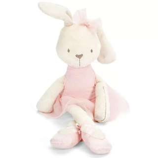 🚚 ✔️STOCK - MILLIE BABY RABBIT BUNNY PINK TULLE BOW RIBBON BALLERINA FRIEND SOFT CUDDLING BABY GIRL TOY