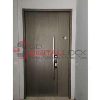 Samsung SHS-P718 Push Pull Digial Lock install on Condo Main Door at $850