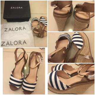 Zalora wedges striped
