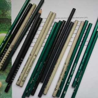 charcoal pen, pen and pencil