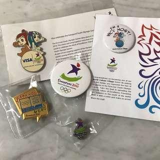 Singapore YOG Pins and Badges